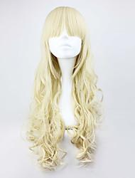 cheap -Cosplay Wigs Women's 28 inch Heat Resistant Fiber Golden Anime