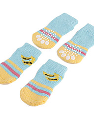 cheap -Dog Socks Casual / Daily Keep Warm Stripes Blue For Pets / Winter