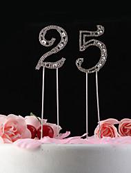 Недорогие -Украшения для торта Классика Хрусталь Годовщина День рождения с Стразы Полиэтиленовый пакет