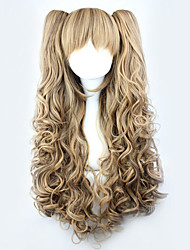 cheap -Cosplay Wigs Women's 28 inch Heat Resistant Fiber Yellow Blonde Anime