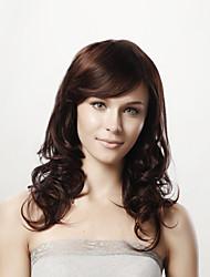 Недорогие -Натуральные волосы Лента спереди Парик Ассиметричная стрижка Rihanna стиль Перуанские волосы Волнистый Нейтральный Коричневый Парик 130% 150% 180% Плотность волос 10-24 дюймовый / Природные волосы