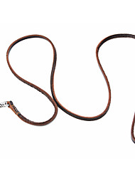 cheap -Classical Top Layer Leather Dog Leash (120cm/47inch, Brown)