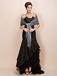 cheap -Shawls Satin Party Evening / Casual / Office & Career Wedding  Wraps / Shawls With