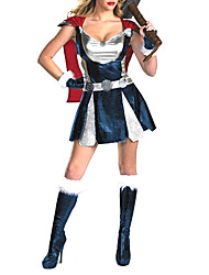 cheap -Movie / TV Theme Costumes Warrior Cosplay Costume Women's Halloween Carnival Festival / Holiday Polyester Women's Carnival Costumes / Gloves / Cloak