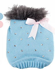cheap -Dog Sweater Dog Clothes Sequin Blue Pink Cotton Costume For Winter