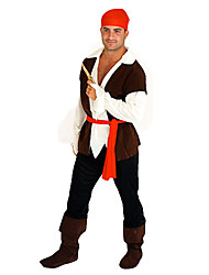 cheap -Pirate Cosplay Costume Men's Halloween Carnival Festival / Holiday Polyester Men's Carnival Costumes / Headpiece