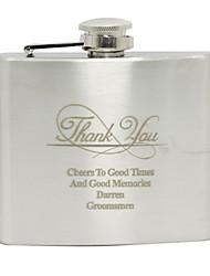 abordables -Acier inoxydable Flasque Marié / Groom Mariage / Anniversaire / Je vous remercie