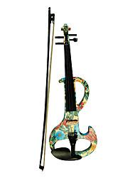 Недорогие -Kinglos - (DSZA-1102) Ebony частей Электрические скрипки с Case / Канифоль / Bow / Наушники / Кабель (Daisy-Design)