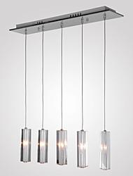 cheap -MAISHANG® 5-Light Cluster Pendant Light Downlight Chrome Metal Crystal 110V / 110-120V / 220-240V Bulb Not Included / G4