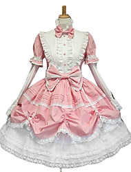 cheap -Princess Women's Sweet Lolita Gothic Lolita Classic Lolita Dress Pink Bowknot Lace Cotton Lolita Accessories / Gothic Lolita Dress / Punk Lolita Dress / Punk Lolita