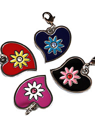 cheap -Flowery Heart Style Dog ID Name Tag (Assorted Colors)