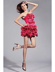 cheap -Ball Gown Homecoming Cocktail Party Sweet 16 Dress Strapless Sleeveless Short / Mini Taffeta with Ruffles Cascading Ruffles 2021