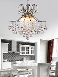 cheap -6-Light 40 cm Crystal Pendant Light Metal Electroplated Modern Contemporary 110-120V / 220-240V