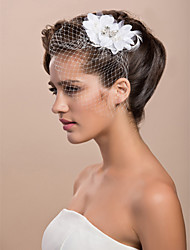 cheap -Blusher Veils / Headwear / Birdcage Veils with Floral 1pc Special Occasion Headpiece