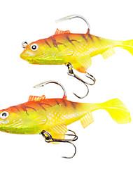 cheap -2 pcs Fishing Lures Soft Bait Bass Trout Pike Sea Fishing Freshwater Fishing Bass Fishing Soft Plastic Lead