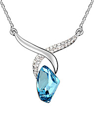 cheap -Crystal Pendant Necklace Crystal Alloy Red Blue Necklace Jewelry For Daily