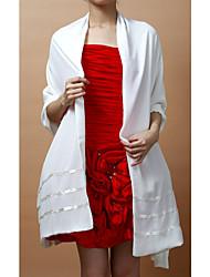cheap -Sleeveless Chiffon Wedding / Party Evening Wedding  Wraps / Shawls With Shawls
