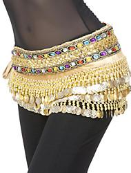 cheap -Belly Dance Belt Women's Polyester Coin / Sequin Natural / Performance