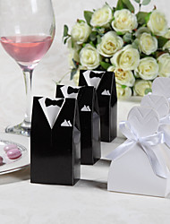 cheap -Card Paper Favor Holder with Ribbons Favor Boxes - 12