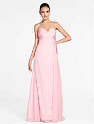 cheap -Princess / A-Line Sweetheart Neckline / Strapless Floor Length Chiffon Bridesmaid Dress with Criss Cross / Draping / Side Draping
