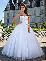 cheap -Ball Gown Wedding Dresses Sweetheart Neckline Floor Length Tulle Sleeveless with 2021