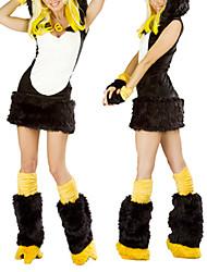 Недорогие -Довольно черный и белый Duck Вельвет Хеллоуин костюм (4 шт)
