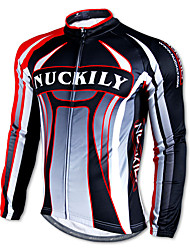 cheap -Nuckily Men's Long Sleeve Cycling Jersey Stripes Bike Top Mountain Bike MTB Road Bike Cycling Thermal / Warm Quick Dry Ultraviolet Resistant Sports Winter 100% Polyester Fleece Clothing Apparel