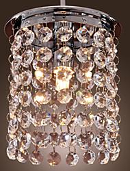 "cheap -1-Light 12(5"") Crystal / Mini Style Pendant Light Mini Electroplated Modern Contemporary 110-120V / 220-240V"