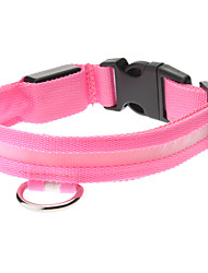 cheap -Adjustable High Quality Nylon LED Collar for Dogs (Pink)