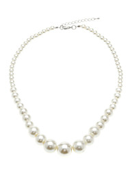 cheap -Women's Chain Necklace Pearl Necklace Rosary Chain Fashion Elegant Bridal Pearl White Necklace Jewelry For Wedding Party Daily