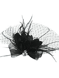 cheap -Tulle / Crystal / Feather Tiaras / Birdcage Veils with 1 Wedding / Special Occasion / Party / Evening Headpiece / Fabric
