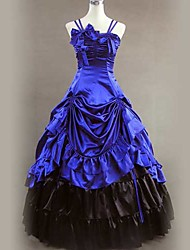 cheap -Victorian Medieval 18th Century Dress Party Costume Masquerade Women's Satin Costume Vintage Cosplay Sleeveless Long Length Ball Gown / Skirt / Petticoat
