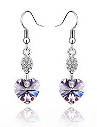 cheap -Women's Heart Crystal Earrings