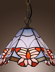 cheap -Tiffany Pendant Light with Butterfly Pattern