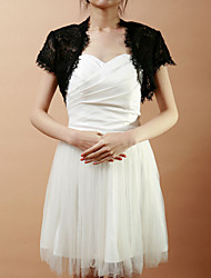cheap -Short Sleeve Lace Wedding / Party Evening Wedding  Wraps With Shrugs