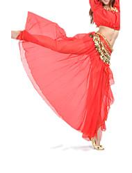 cheap -Belly Dance Skirt Women's Training / Performance Chiffon Split Front Dropped Skirt