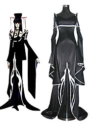 cheap -Inspired by Cosplay Yuko Ichihara Anime Cosplay Costumes Japanese Cosplay Suits / Kimono Patchwork Long Sleeve Dress / Pants / Headpiece For Women's