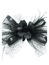 cheap -Women's Satin Feather Tulle Headpiece-Special Occasion Fascinators Birdcage Veils