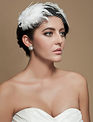 cheap -Tulle / Crystal / Fabric Tiaras / Fascinators with 1 Wedding / Special Occasion / Party / Evening Headpiece