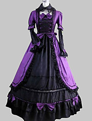 cheap -Victorian Medieval 18th Century Dress Party Costume Masquerade Women's Lace Satin Cotton Costume Vintage Cosplay Party Prom Long Sleeve Long Length Ball Gown Plus Size Customized