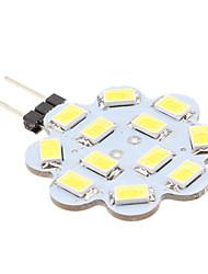 cheap -1.5 W LED Bi-pin Lights 6000 lm G4 12 LED Beads SMD 5630 Natural White 12 V / #