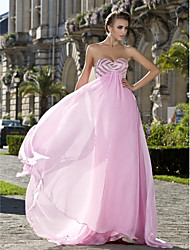 cheap -Ball Gown Prom Formal Evening Military Ball Dress Strapless Sweetheart Neckline Sleeveless Sweep / Brush Train Chiffon with Crystals Beading Draping 2020