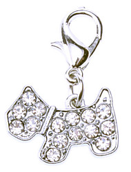 cheap -Rhinestone Decorated Tiny Dog Style Collar Charm for Dogs Cats