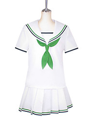 cheap -Inspired by Kuroko no Basket Aida Riko Anime Cosplay Costumes Japanese Cosplay Suits School Uniforms Patchwork Short Sleeve Shirt Blouse Bow For Women's