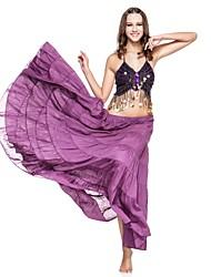 cheap -Belly Dance Skirt Women's Performance Linen Ruffles Dropped Skirt