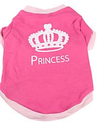 cheap -Dog Shirt / T-Shirt Dog Clothes Breathable Pink Costume Cotton Tiaras & Crowns XS S M L