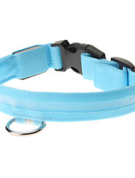 cheap -Adjustable High Quality Nylon LED Collar for Dogs (Blue)