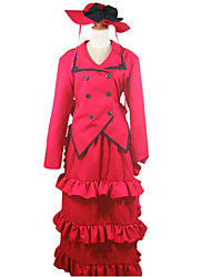 cheap -Inspired by Black Butler Madam Red Anime Cosplay Costumes Japanese Cosplay Suits Dresses Patchwork Long Sleeve Cravat Coat Dress For Women's
