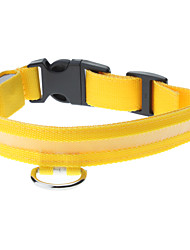cheap -Adjustable High Quality Nylon LED Collar for Dogs (Yellow)