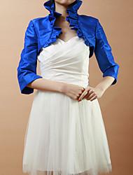 cheap -Taffeta Wedding / Party Evening Wedding  Wraps With Ruffles Coats / Jackets